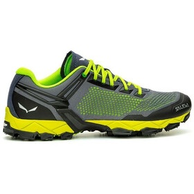 SALEWA Lite Train K Chaussures Homme, fluo green/blue danube